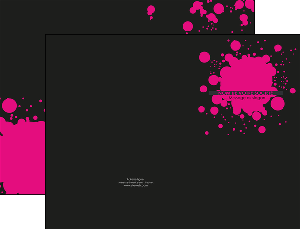 creation graphique en ligne pochette a rabat peinture rose tache de peinture MLGI41726