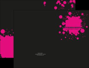 creation graphique en ligne pochette a rabat peinture rose tache de peinture MLIG41726