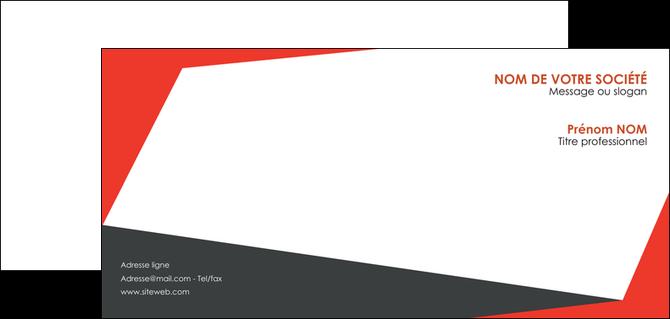 creation graphique en ligne carte de correspondance rouge noir moderne MLGI41848