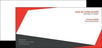 creation graphique en ligne carte de correspondance rouge noir moderne MIF41848