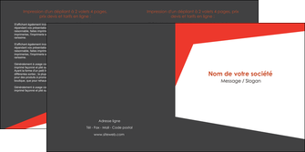 creation graphique en ligne depliant 2 volets  4 pages  rouge noir moderne MLIG41856