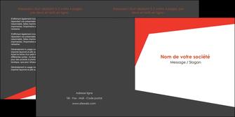 creation graphique en ligne depliant 2 volets  4 pages  rouge noir moderne MLIG41856