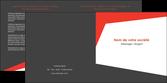 creation graphique en ligne depliant 2 volets  4 pages  rouge noir moderne MLGI41856