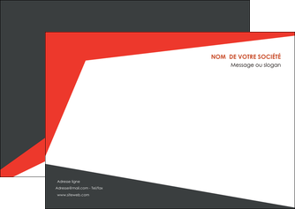 modele flyers rouge noir moderne MLGI41858