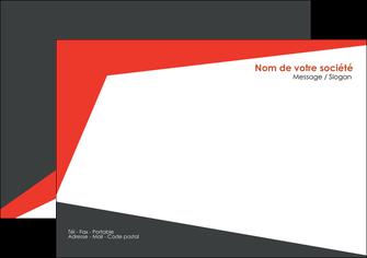 modele en ligne flyers rouge noir moderne MLIG41862