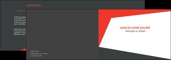 modele en ligne depliant 2 volets  4 pages  rouge noir moderne MLIG41870