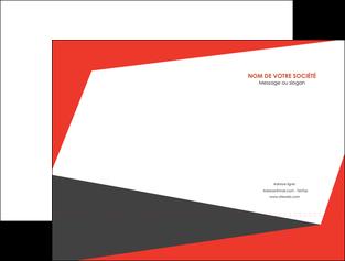 maquette en ligne a personnaliser pochette a rabat rouge noir moderne MLIG41872