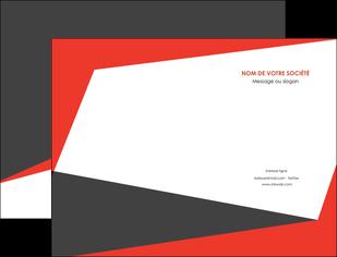 creer modele en ligne pochette a rabat rouge noir moderne MLIG41874