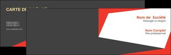 creation graphique en ligne carte de visite rouge noir moderne MLGI41878