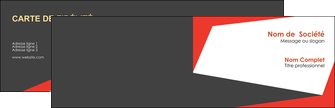 creation graphique en ligne carte de visite rouge noir moderne MLIG41878