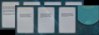 faire modele a imprimer depliant 4 volets  8 pages  texture contexture structure MLGI42318