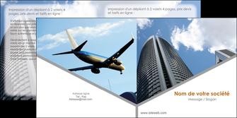 personnaliser modele de depliant 2 volets  4 pages  agence immobiliere immeuble gratte ciel immobilier MLGI42532