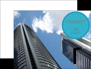 personnaliser maquette pochette a rabat agence immobiliere immeuble gratte ciel immobilier MLGI42534
