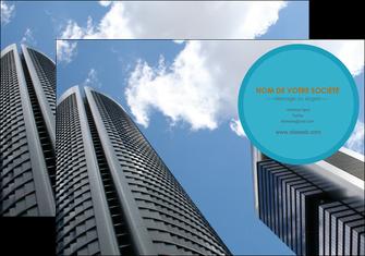 personnaliser modele de pochette a rabat agence immobiliere immeuble gratte ciel immobilier MLGI42540
