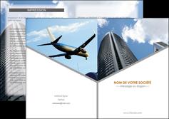 imprimer depliant 2 volets  4 pages  agence immobiliere immeuble gratte ciel immobilier MLGI42550