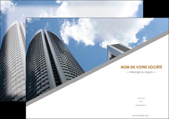 maquette en ligne a personnaliser affiche agence immobiliere immeuble gratte ciel immobilier MLGI42558