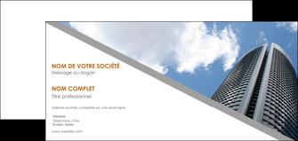 maquette en ligne a personnaliser carte de correspondance agence immobiliere immeuble gratte ciel immobilier MLGI42560