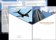 personnaliser maquette depliant 2 volets  4 pages  agence immobiliere immeuble gratte ciel immobilier MLGI42562