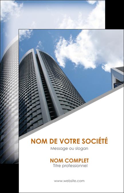 Maquette En Ligne A Personnaliser Carte De Visite Agence Immobiliere Immeuble Gratte Ciel Immobilier MLGI42566