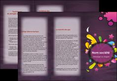 impression depliant 3 volets  6 pages  texture contexture structure MLGI42614