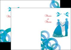 creer modele en ligne depliant 2 volets  4 pages  mariage noces union MIS42822