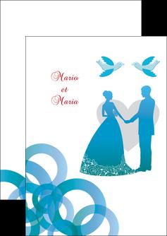 personnaliser maquette flyers mariage noces union MIS42824
