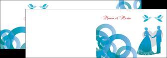 imprimer depliant 2 volets  4 pages  mariage noces union MIS42828