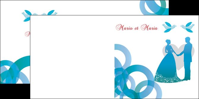 maquette en ligne a personnaliser depliant 2 volets  4 pages  mariage noces union MIS42832