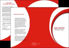 realiser depliant 3 volets  6 pages  texture contexture structure MIF42942
