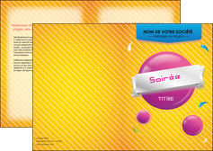 impression depliant 2 volets  4 pages  soiree evenement rayure MID43310