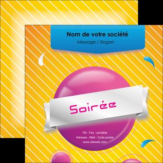 imprimer flyers soiree evenement rayure MID43322
