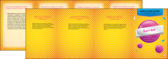 imprimer depliant 4 volets  8 pages  soiree evenement rayure MID43338