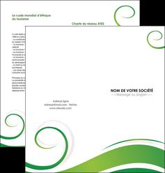 faire depliant 2 volets  4 pages  fleuriste et jardinage texture structure design MIF43658