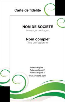 Commander Carte de visite avec logo entreprise ou société Fleuriste & Jardinage Carte commerciale de fidélité modèle graphique pour devis d'imprimeur Carte de visite - Portrait