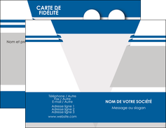 Commander Carte de fidélité  Carte commerciale de fidélité papier publicitaire et imprimerie Carte de visite Double - Portrait