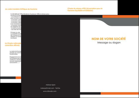realiser depliant 2 volets  4 pages  texture structure courbes MIS43978