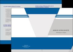 creer modele en ligne depliant 2 volets  4 pages  texture structure courbes MLIG44022