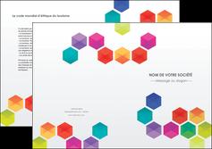 creation graphique en ligne depliant 2 volets  4 pages  texture structure design MLIG44122