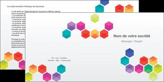 personnaliser maquette depliant 2 volets  4 pages  texture structure design MIF44126