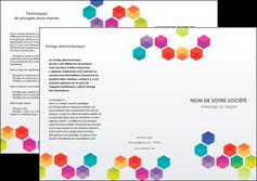 realiser depliant 3 volets  6 pages  texture structure design MIF44148