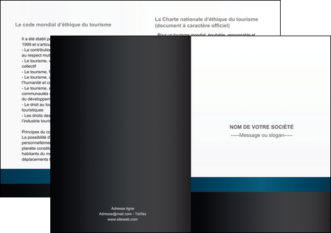 creer modele en ligne depliant 2 volets  4 pages  texture structure design MLGI44288