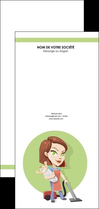 maquette en ligne a personnaliser flyers agence de placement  femme de menage employe de maison nenene MLGI44546