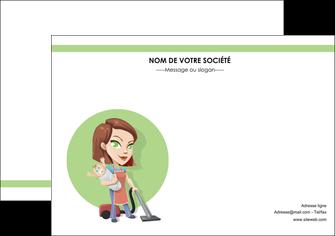 personnaliser maquette affiche agence de placement  femme de menage employe de maison nenene MLGI44552