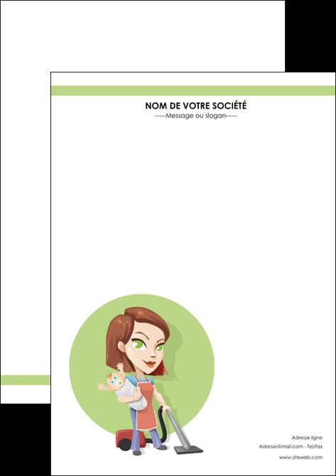 modele en ligne affiche agence de placement  femme de menage employe de maison nenene MLGI44556