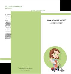modele en ligne depliant 2 volets  4 pages  agence de placement  femme de menage employe de maison nenene MLGI44558