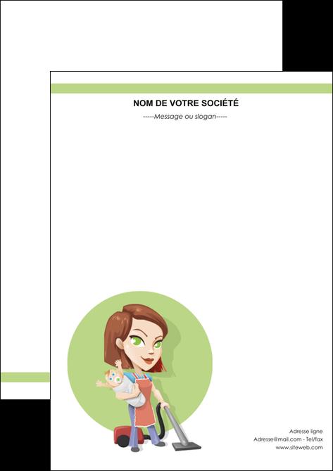 faire modele a imprimer flyers agence de placement  femme de menage employe de maison nenene MIF44562