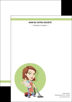 faire modele a imprimer flyers agence de placement  femme de menage employe de maison nenene MLGI44562