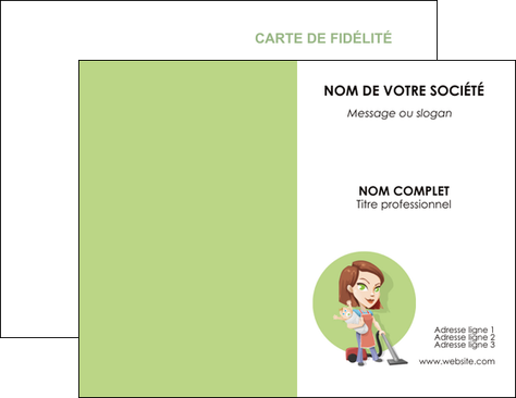 Realiser Carte De Visite Agence Placement Femme Menage Employe Maison Nenene MLGI44566