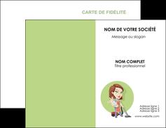 realiser carte de visite agence de placement  femme de menage employe de maison nenene MLGI44566