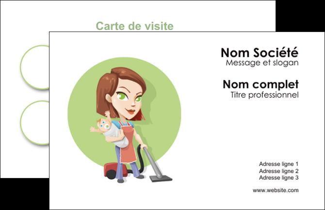 imprimer carte de visite agence de placement  femme de menage employe de maison nenene MIF44570